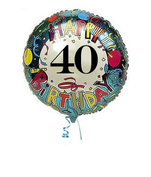 40th Birthday Balloons | Delivered 40th Birthday Balloons By Post