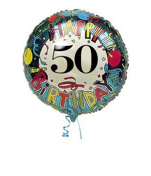50th Birthday Balloons | Send 50th Birthday Balloon | Bunches.