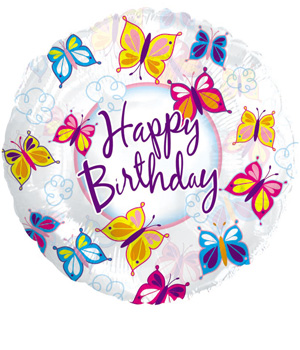 Butterfly Birthday Balloon