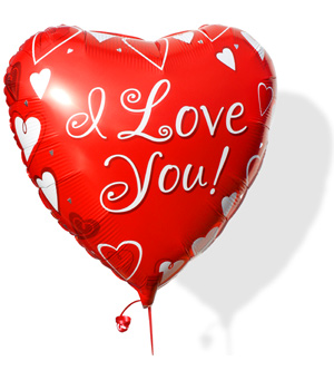 ../Let that special someone know just how you feel with this fun 18 inch heart shaped helium balloon.