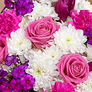 Pink Flower Arrangment - Bunches.co.uk